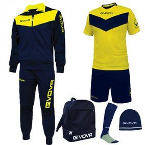 BOX SPORT modrá-žlutá